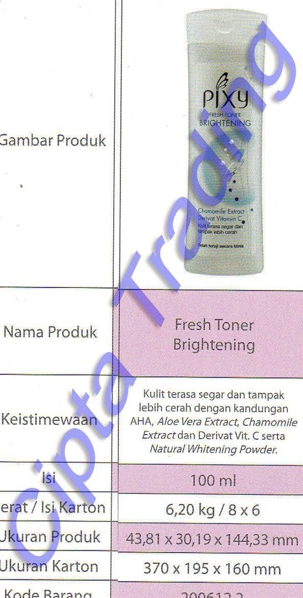 ASLI - CLEANSING - PIXY - FRESH TONER BRIGHTENING 100G (DOZEN)
