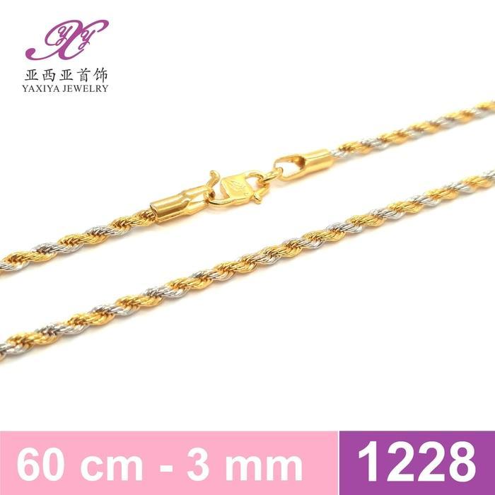 Kalung Emas Rantai Tambang Kombinasi Perhiasan Imitasi  1228