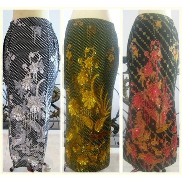 PROMO SALE ! Rok Batik Payet Warna Bawahan Kebaya Pesta Wisuda Akad Nikah Pengantin PROMO TERMURAH