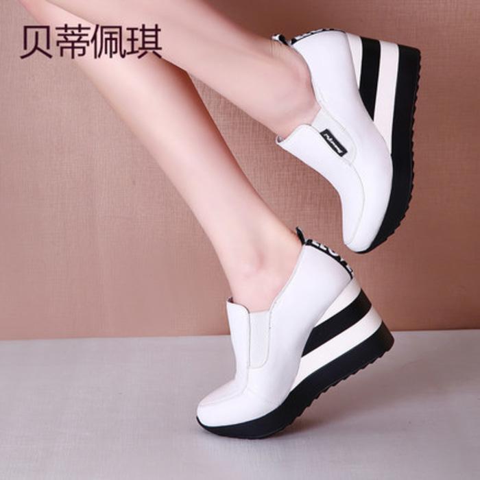 SEPATU KETS / WEDGES AS08 PUTIH / wedges / wedges murah / sandal / sandal flat / sepatu keren / sandal keren / high heels unik / sepatu wanita / sandal wanita / sepatu sandal / sepatu berkualitas