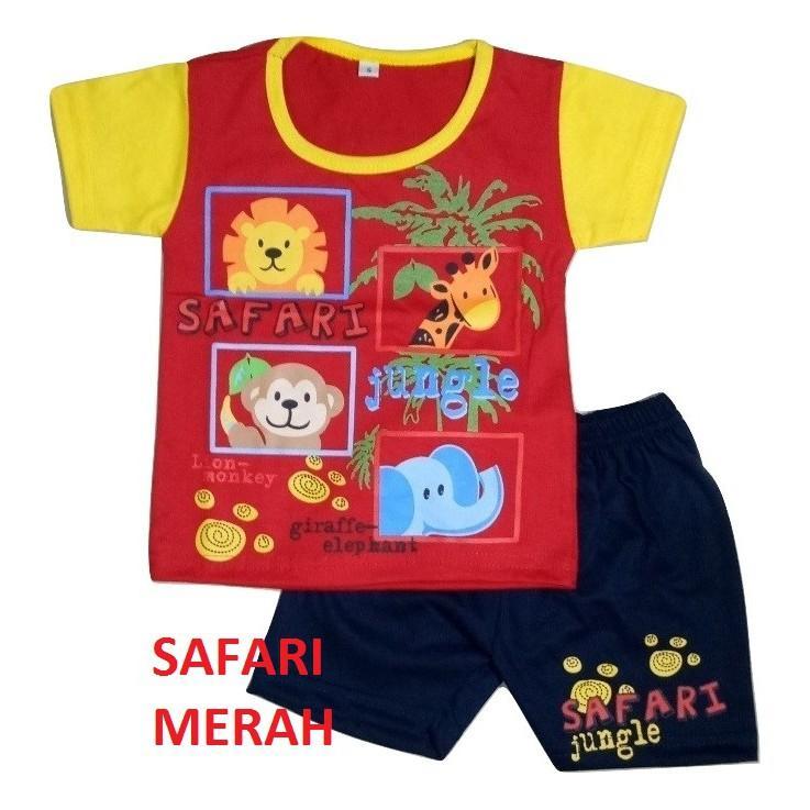 Super Hot!  Setelan bayi usia 3 bulan sampai 12 bulan  Banyak Motif SAFARI JUNGLE dan CAR