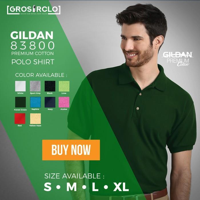 Gildan Sport Shirt Polo Polos 83800 Premium Original Grosiran Murah - Whmnx2