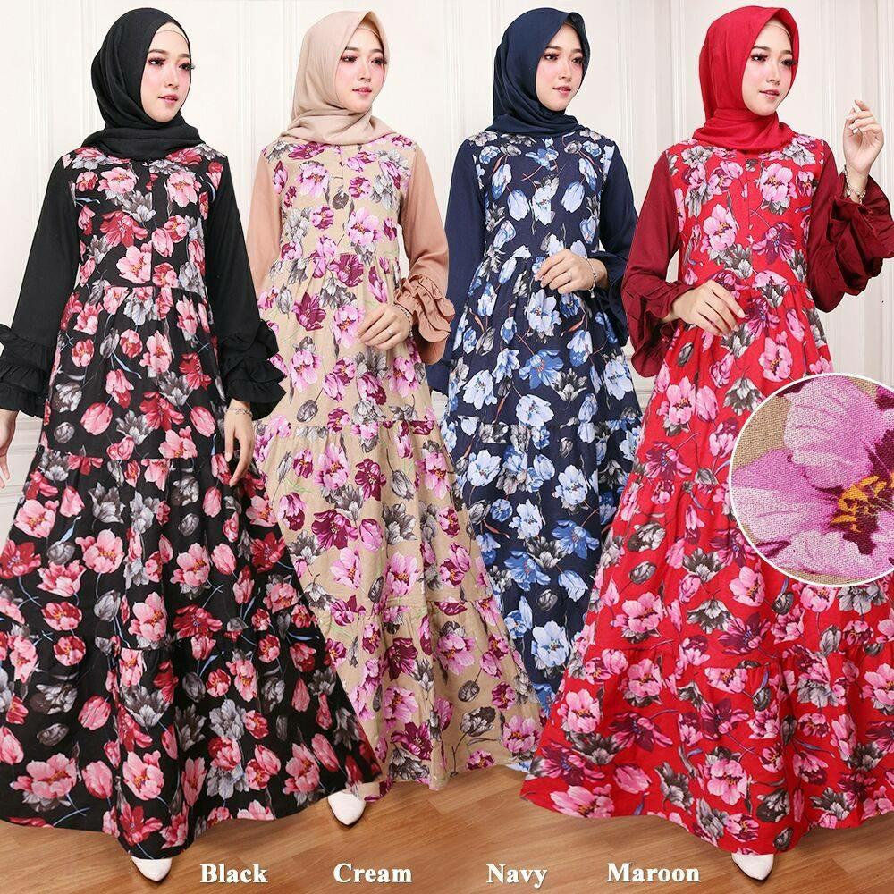 Gamis Naura Maxi Dress (Real Pict) - Black