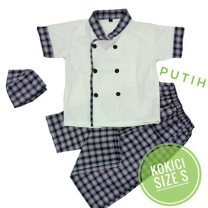 KOKICI Koko Anak Sarung Celana Peci Model Koki Usia 1-2 tahun