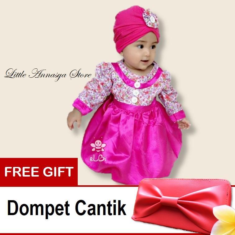 Baju Muslim Bayi Perempuan Blooming Dress (6bln-1thn)