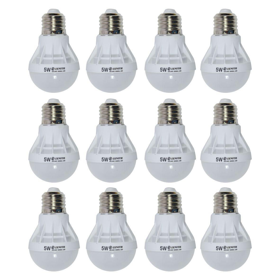 WEITECH LAMPU BOHLAM LED ZENITH HEMAT ENERGI DAN AWET 5 WATT 12 PCS