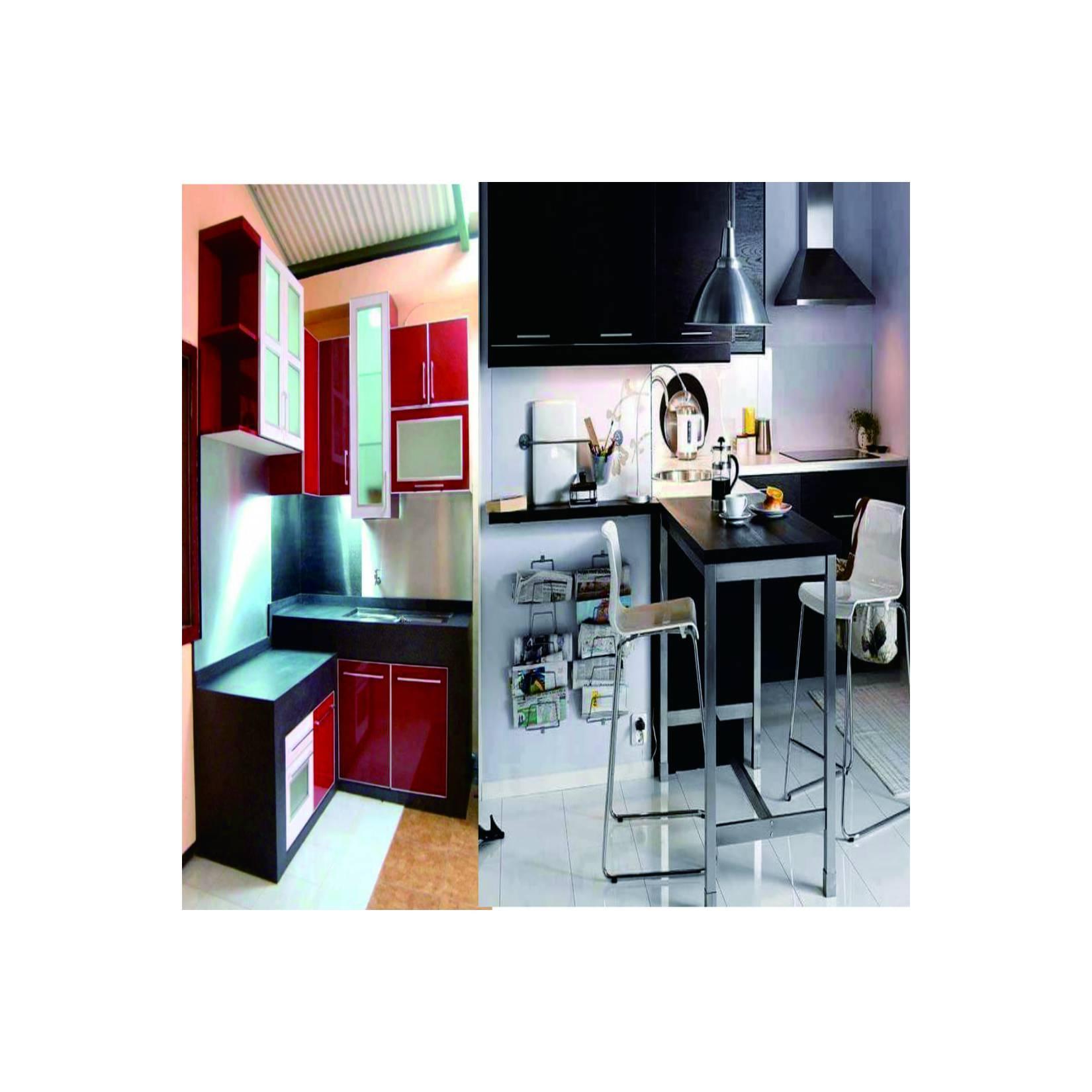 Kitchen set rak lemari dapur Minimalis,Mewah dengan TOP GRANIT.