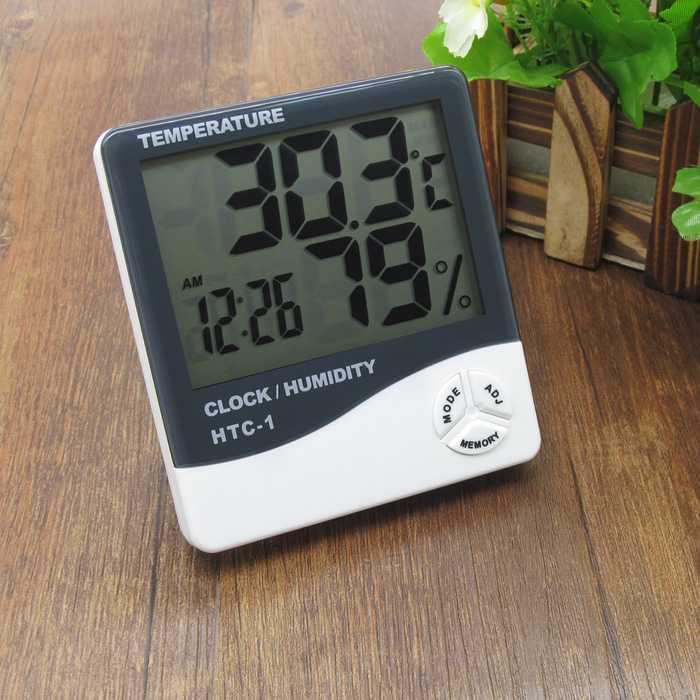 Best Seller!!! Hygrometer Thermometer HTC-1 -Termometer Ruangan Digital LCD Murah Cantik dan Elegant