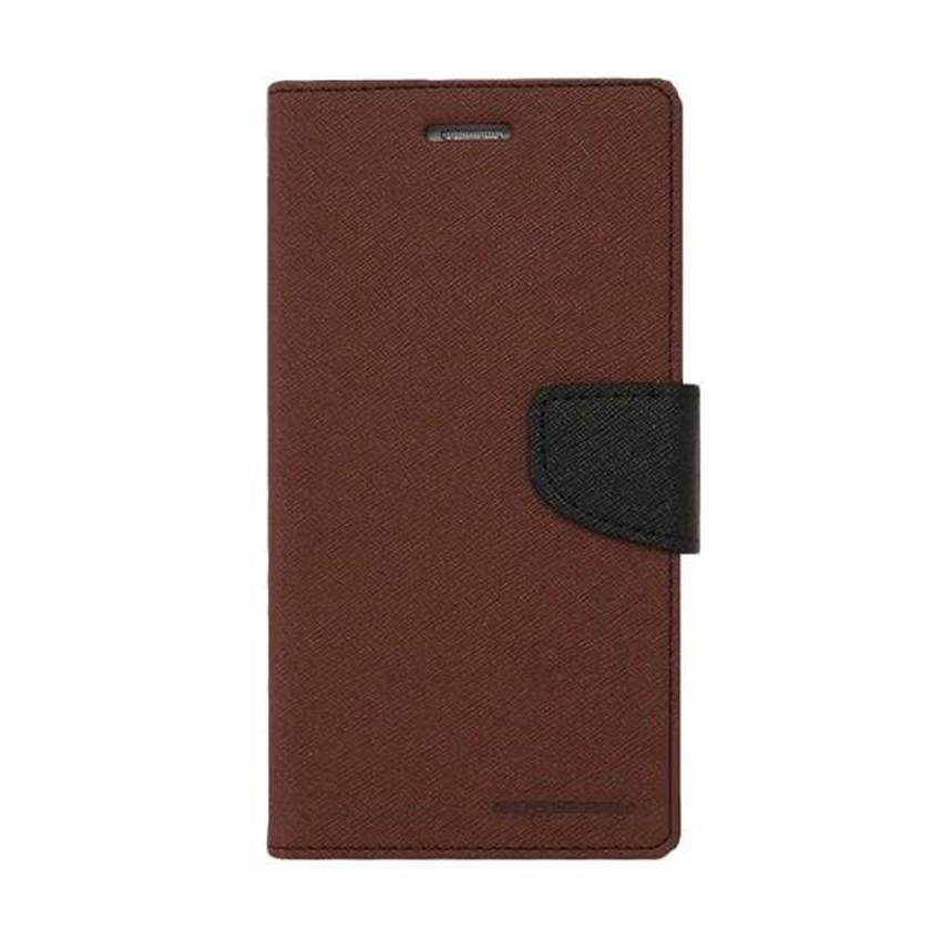 MR Fancy Diary Leather Case Cover For Lenovo S920 Flipshell Softcase / Sarung Case / Sarung Handphone Kulit - Coklat