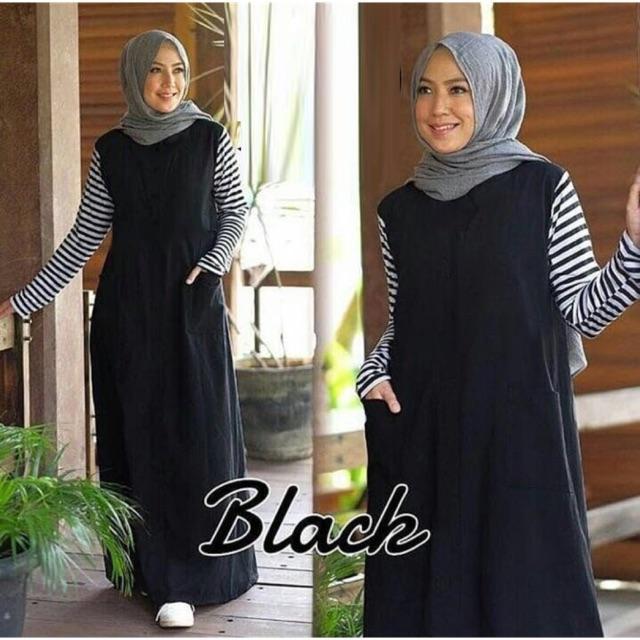 Damai fashion jakarta - baju muslim maxi wanita RISMA (tanpa pasmina) KONVEKSI MURAH
