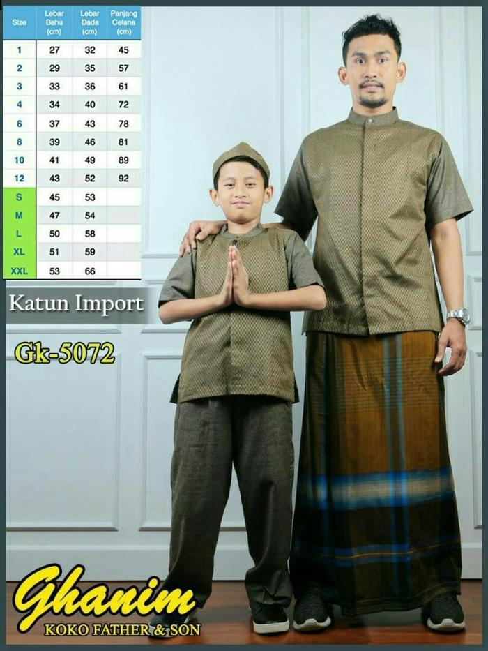 5072 Baju Koko Ayah dan Anak pria, couple, pasangan,bahan import