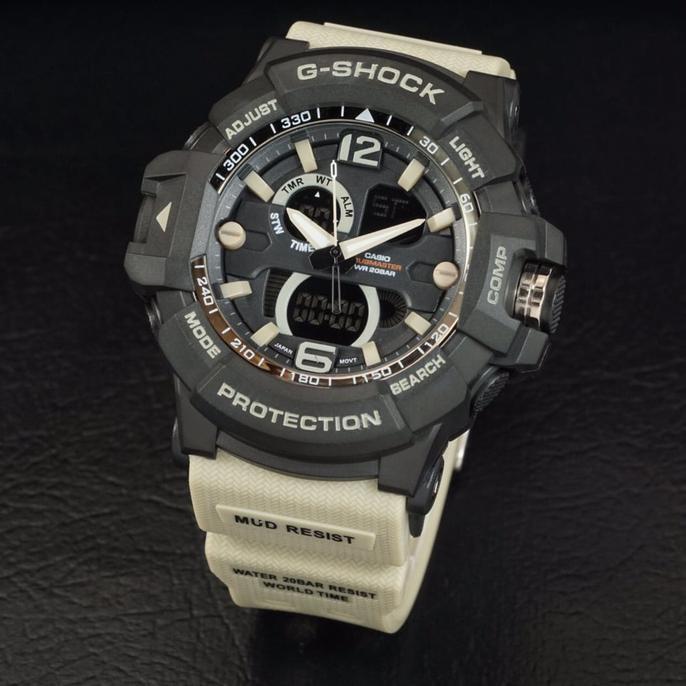 G Shock Gwa 1045 Tali Krem Black Hitam Gshock Gwa1045 Jam Tangan Pria - Timewatch