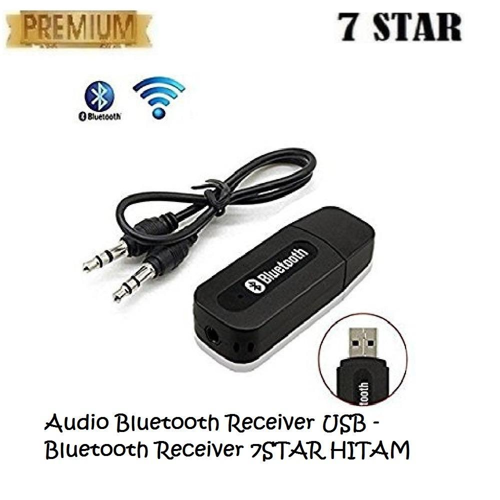 Audio Bluetooth Receiver USB - Bluetooth Receiver 7STAR Adapter MusicTeknologi Menghubungkan HP Ke Speaker - HITAM
