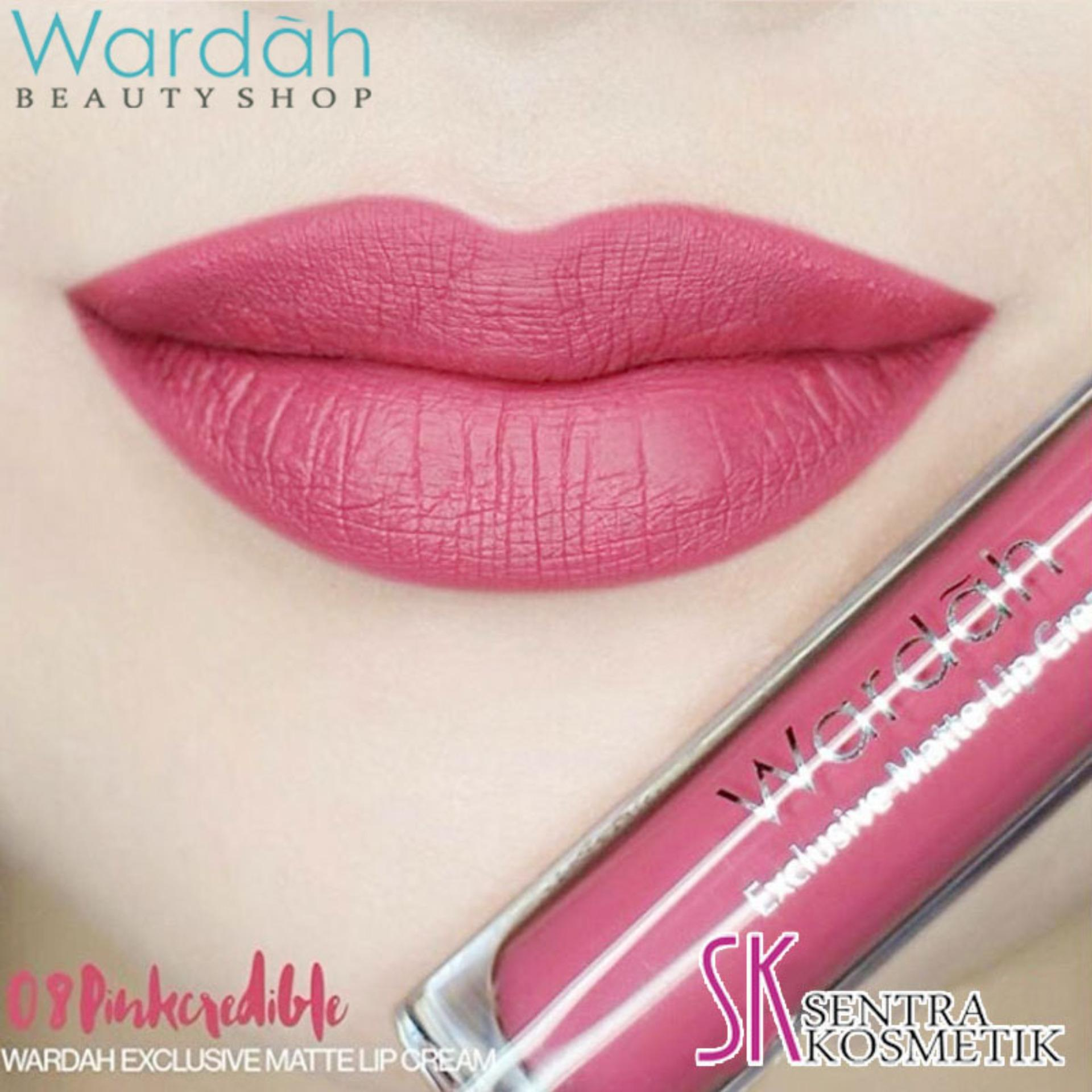 Wardah Exclusive MATTE LIP CREAM No 08 - PINKCREDIBLE