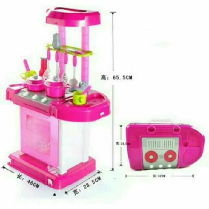 Standing Kitchen Set. Mainan Kompor Oven Akat Dapur Masak Masakan Anak