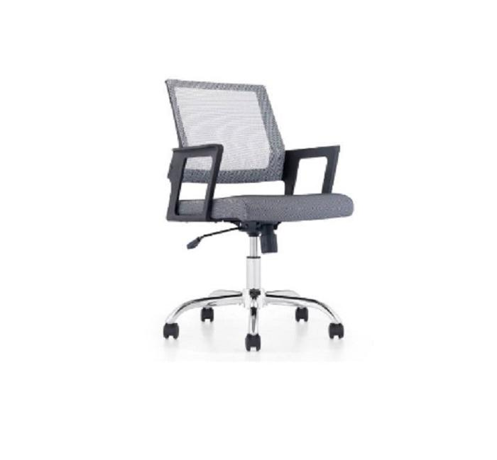 Staff Chair Low Back Grey - Kursi Staff Office