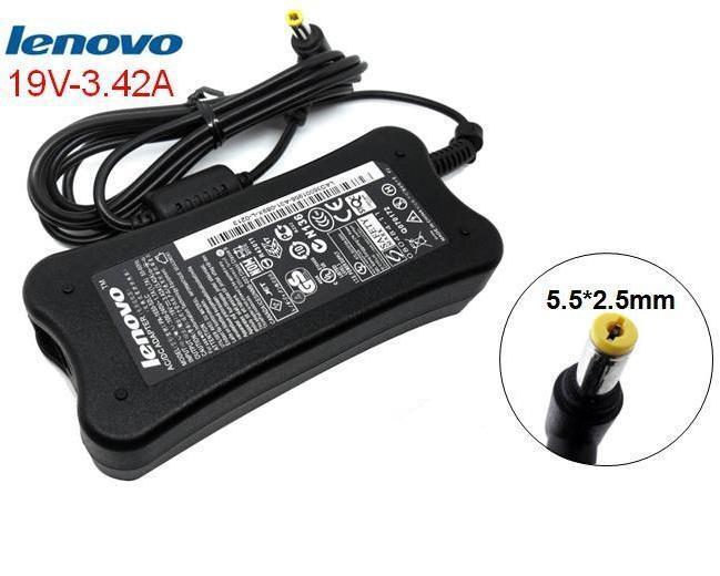 LENOVO Ori Adaptor Charger Laptop Notebook 19V 3.42A (5.5*2.5) Tulang Berikut Kabel Power G450 G430 G510 G530 G550 Y450 Y650 U350 G500 G510 G530 G550 G555 G570