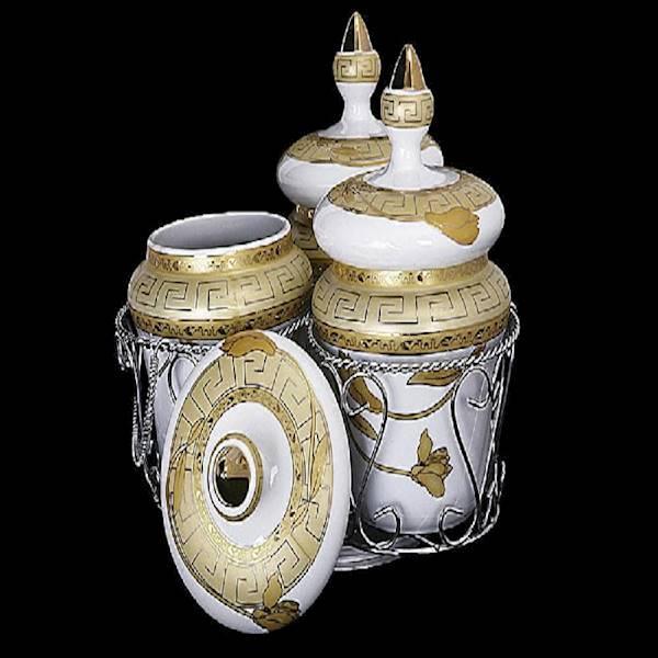 Vicenza Toples Keramik Motif + Rack Dan Roda Pemutar  S-81 Diskon