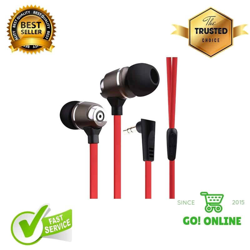 Earphones SYLLABLE G02S Extra Bass Sports Red Color