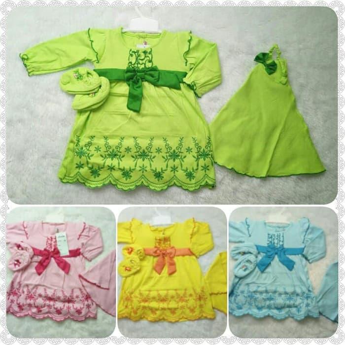 Baju Muslim Bayi Perempuan - Gamis Jilbab Bayi Shakila