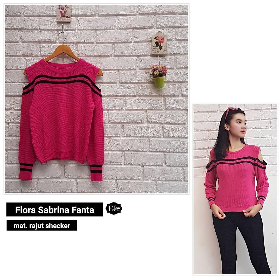 Sweater Flora Sabrina Outer Rajut Shecker Baju Wanita Muslim Pakaian Hangat Wanita Atasan Simple Baju Wanita Hijab Casual Modern Trendy Baju Model Terbaru 2018