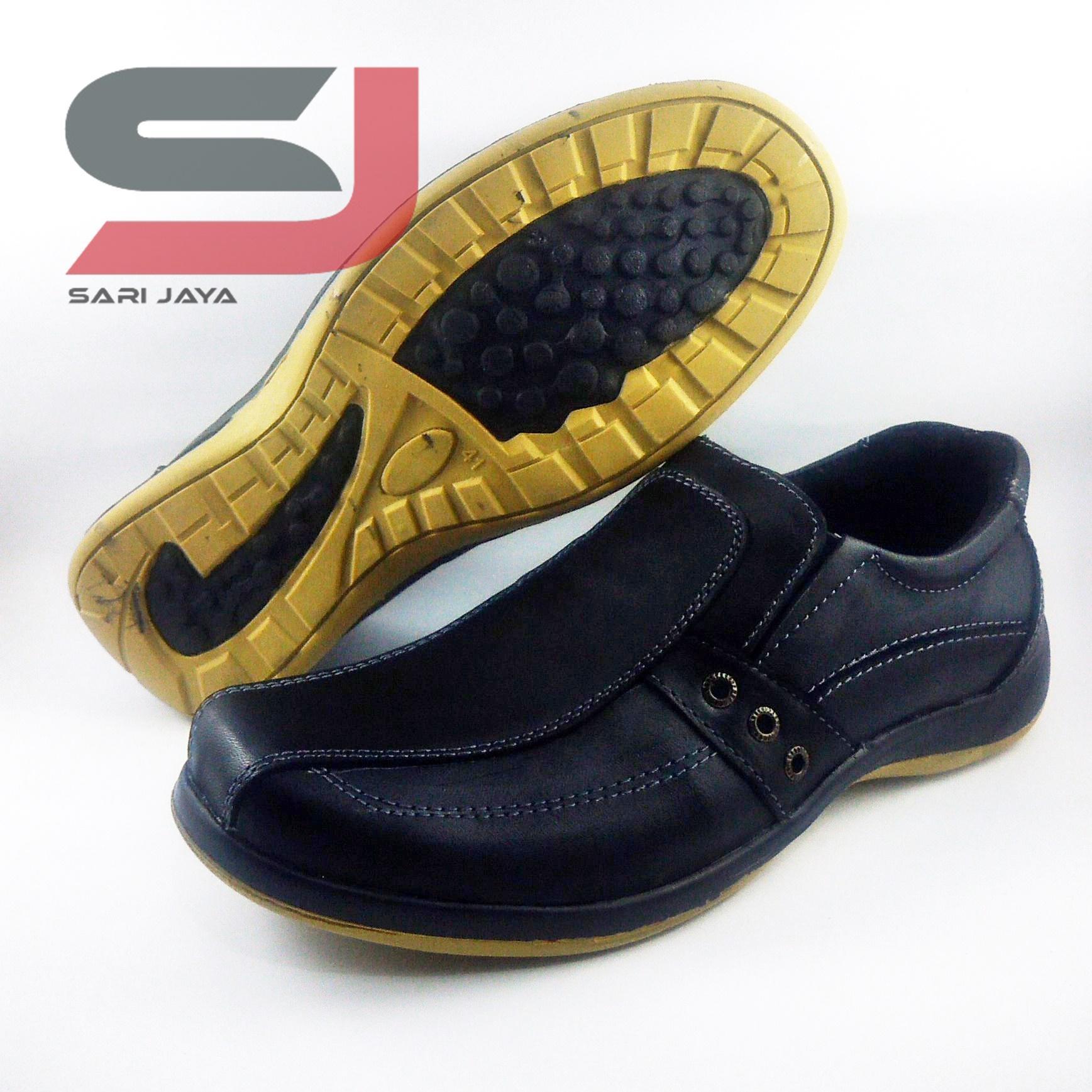 Sepatu pantofel casual pria slip on bahan kulit asli fantofel formal pantopel kerja