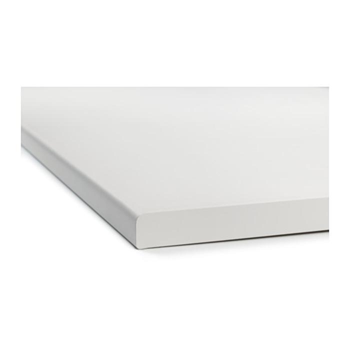 IKEA FYNDIG Permukaan meja dapur 220x60.6 cm, putih