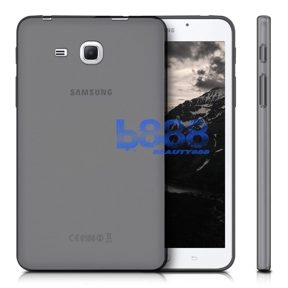 Beauty Case Samsung Galaxy Tab A 2016 T280 T285 Ukuran 7.0 inch Ultrathin Elegant Softcase Anti Jamur / Jelly Case Samsung Tab A 2016 T280 T285 / Ultrathin Samsung Tab T285 T280 7.0 inch / SIlicone Case / Casing Samsung Tab - Hitam Transparant
