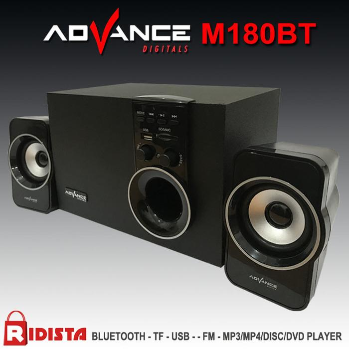 Speaker Advance Aktif Portable M180BT Bluetooth Subwoofer BASS -T398 - Speaker Terlaris - Speaker Murah - speaker Best Quality - Speaker Best Seller - Aksesoris Hp - Spaeker Komputer Bass - Speaker Tv
