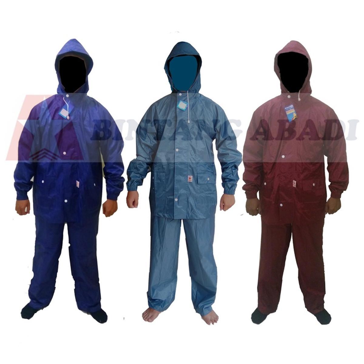 Termurah Monas N41 Jas Hujan Nylon Baju Jaket Celana / Raincoat Aneka Warna Harga Grosir