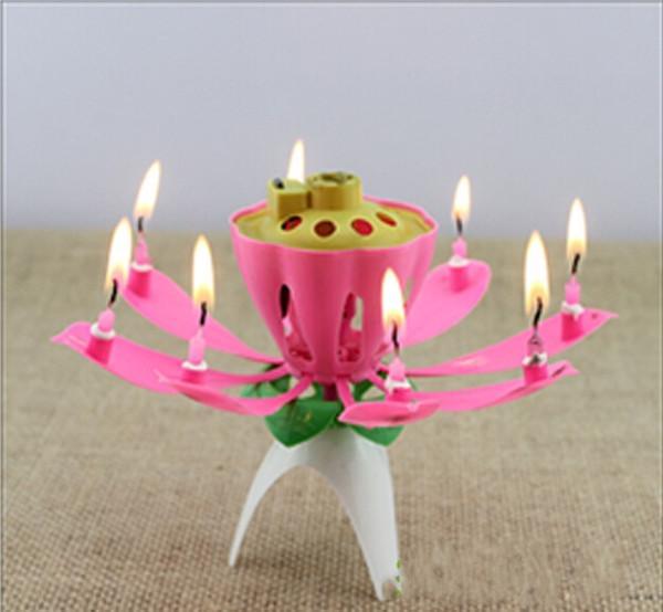 Gambar Produk Rinci lilin ulang tahun unik - lilin bunga lotus valentine Terkini