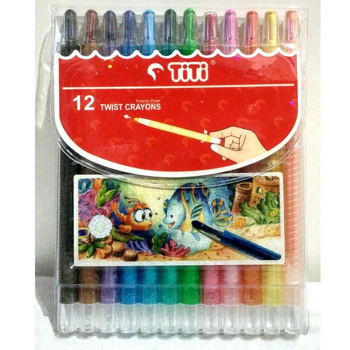 Crayon Putar Titi 12 Warna / Crayon Murah