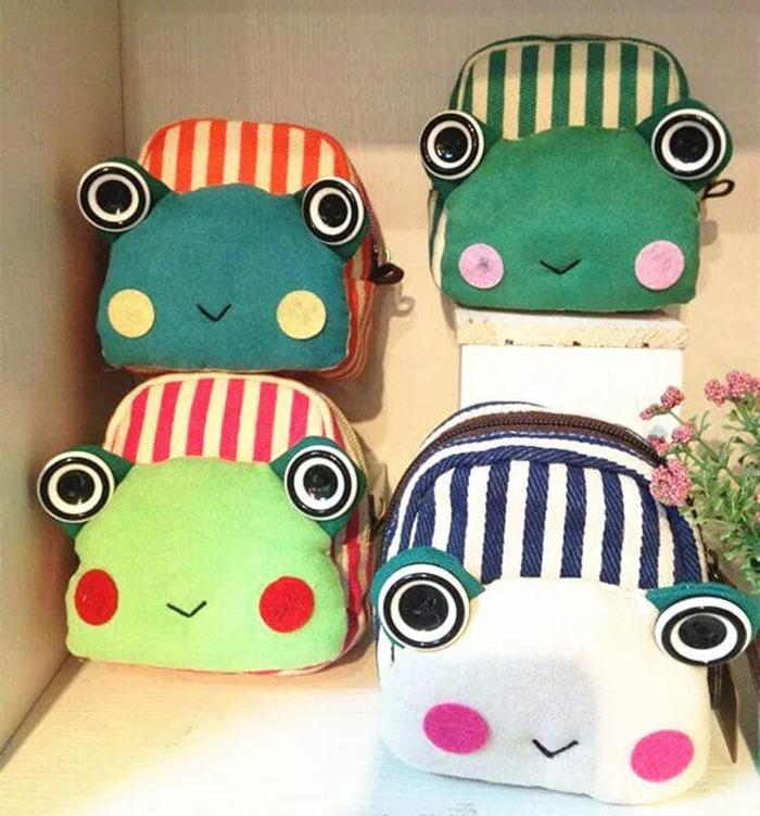 PANACHE Japanese Style FROG COIN PURSE /Dompet Coin, Charger, Earpiece - a9qoWE