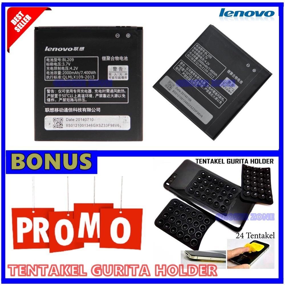 Lenovo Baterai / Battery BL209 For Lenovo A706 / A516 Original - Kapasitas 2000mAh + Gratis Holder Gurita ( Grozir Zone )