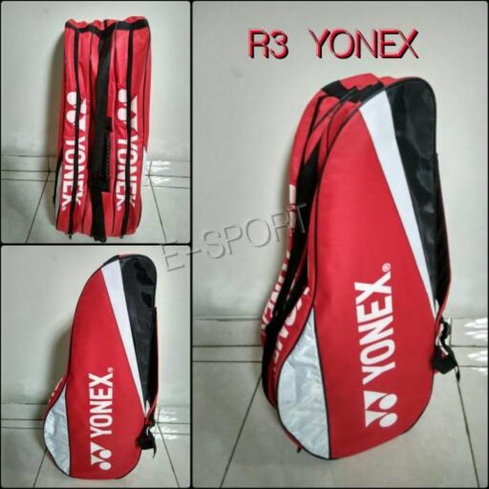 Tas raket besar badminton/tenis logo YONEX Merah - qD8gZr
