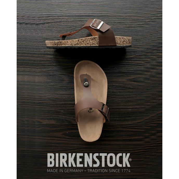 Sandal Birkenstock Pria Jepit Coklat - Hatjrr