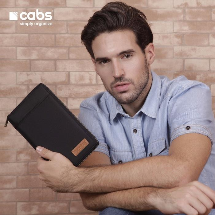 Cabs Pocket Andro - Dompet Wanita & Pria HPO Organizer Unik Cantik Dompet Kartu Branded Serbaguna Dompet Lokal Cewek Cowok Wallet Card Holder Multifungsi - Black