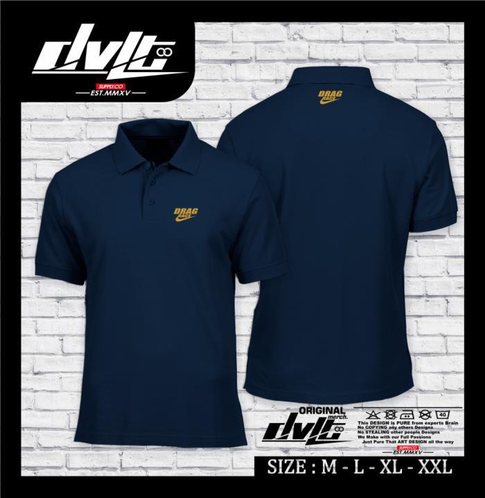 Poloshirt/Kaos Polo Otomotif Drag Race Logo Murah