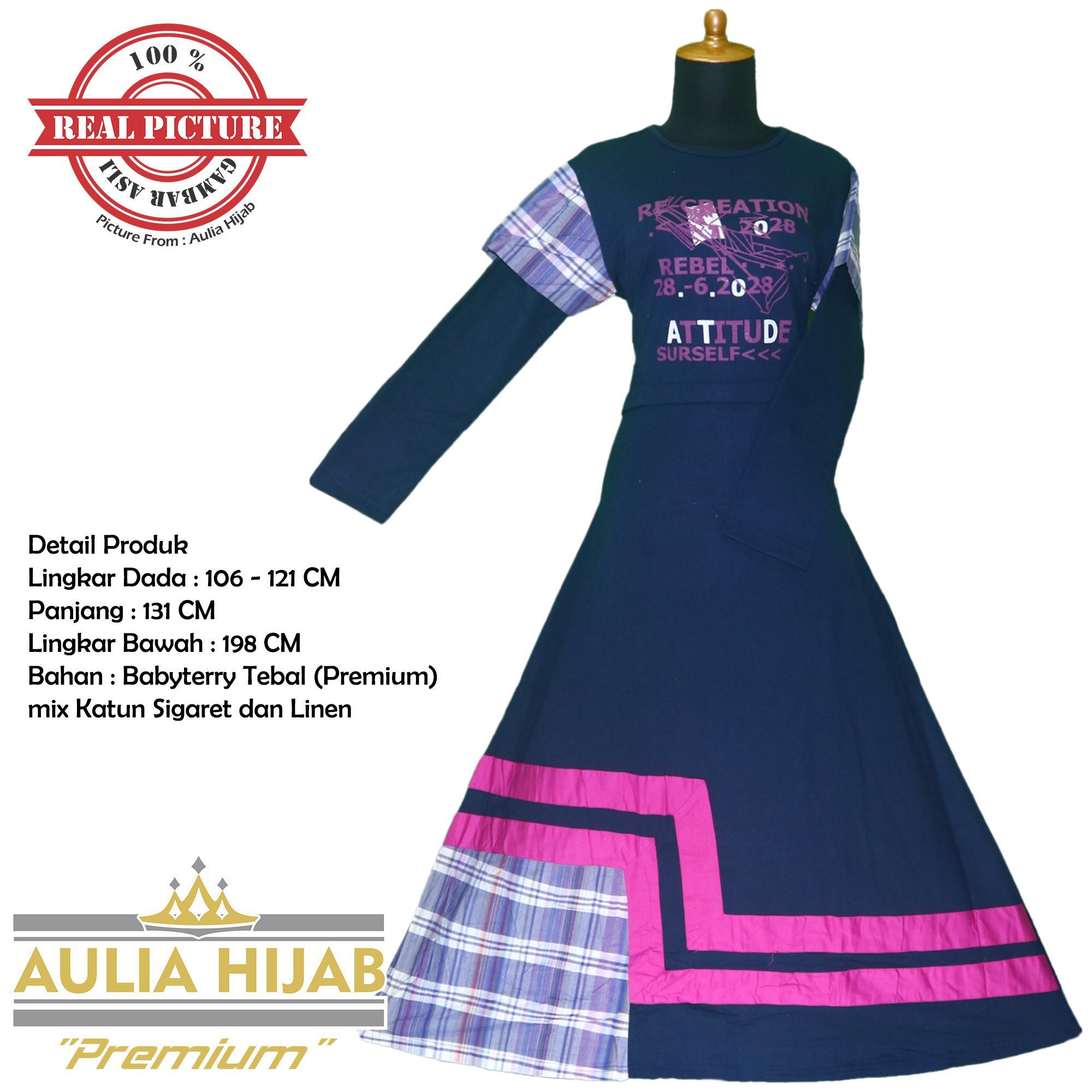 [Premium] Aulia Hijab - Gamis Gio-F 0111 Premium Bahan Babyterry Tebal Premium/Gamis Babyterry Premium/Gamis Hamil/Gamis Santai/Gamis Kerja/Gamis Premium/Gamis Kerja/Gamis Santai/Gamis Mahal/Gamis Berkualitas/Gamis Pesta