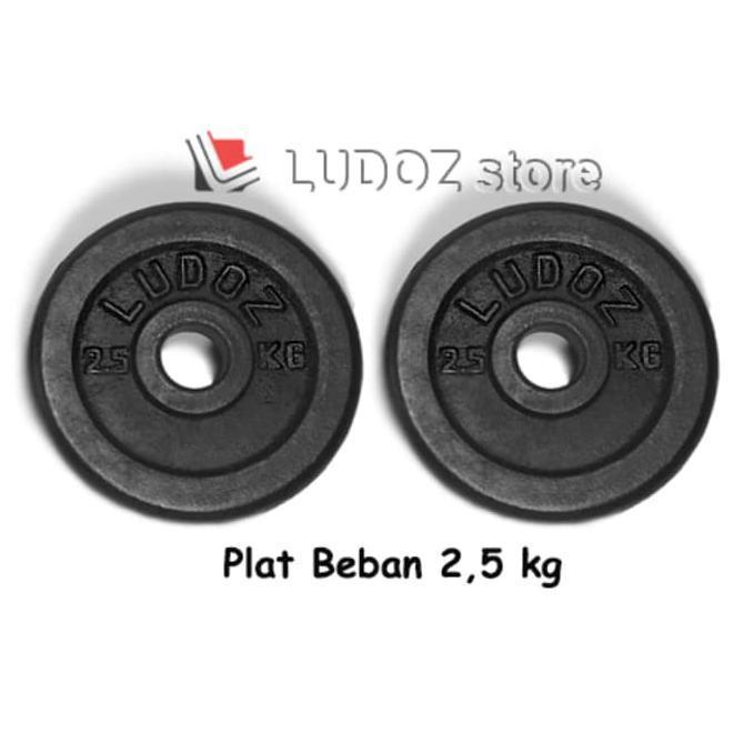 BEST SELLER!!! 2.5Kg Plat Beban Dumbell Plate Barbell Dumbbell Plate 2.5 Kg Barbel