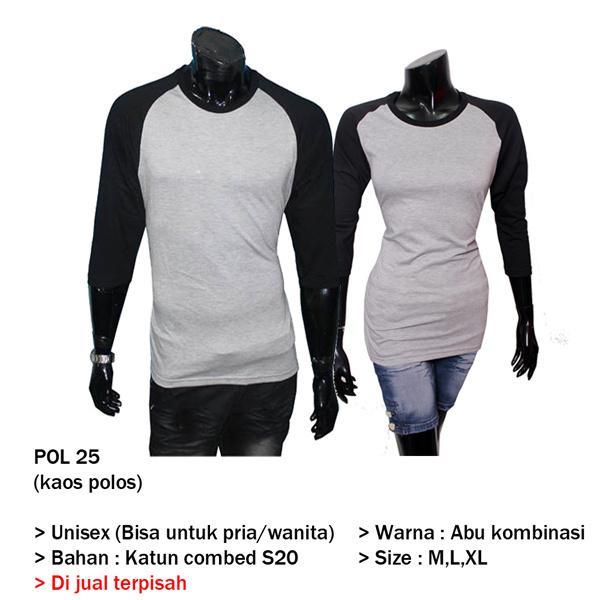 Kaos Polos Couple Yogyakarta  POL 25