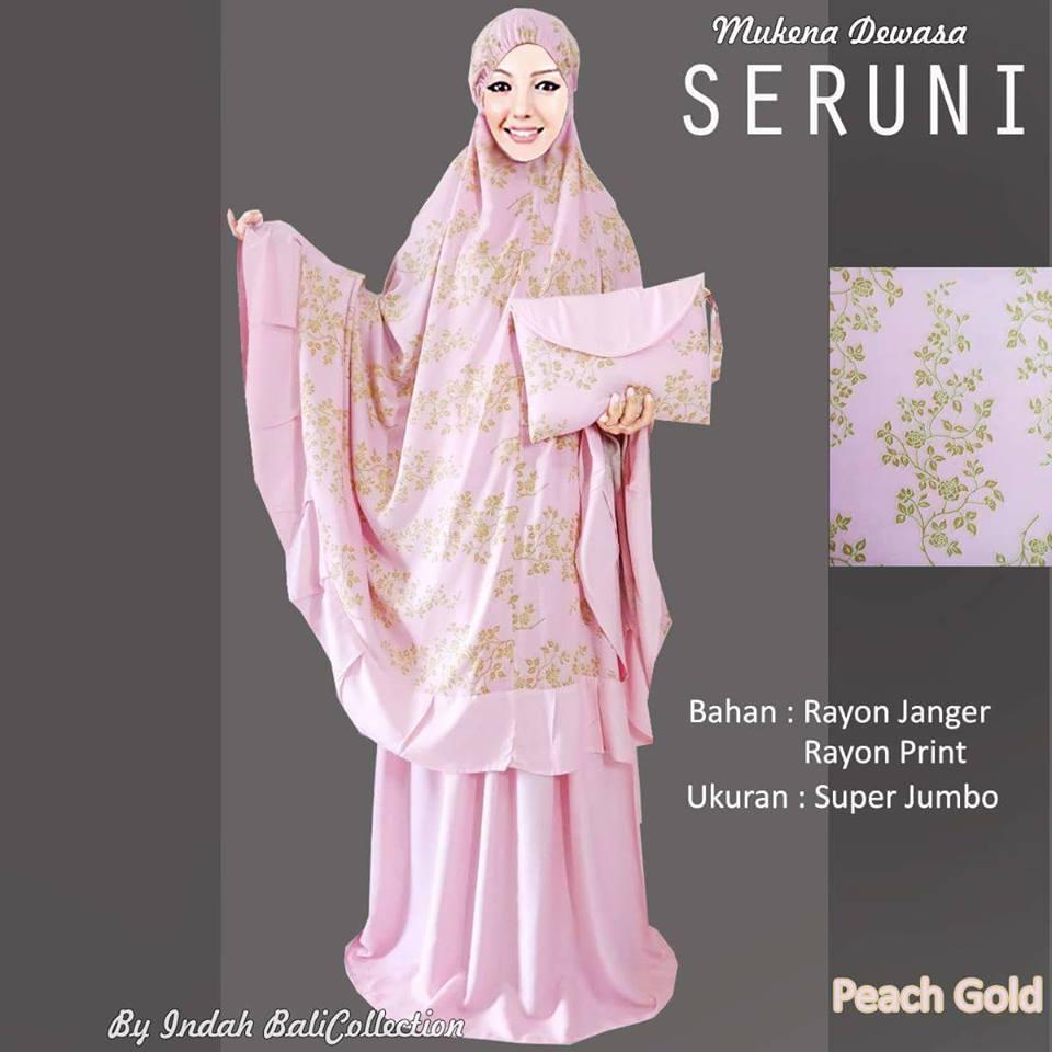 Grosir Mukena Bali Dewasa Seruni Peach Gold