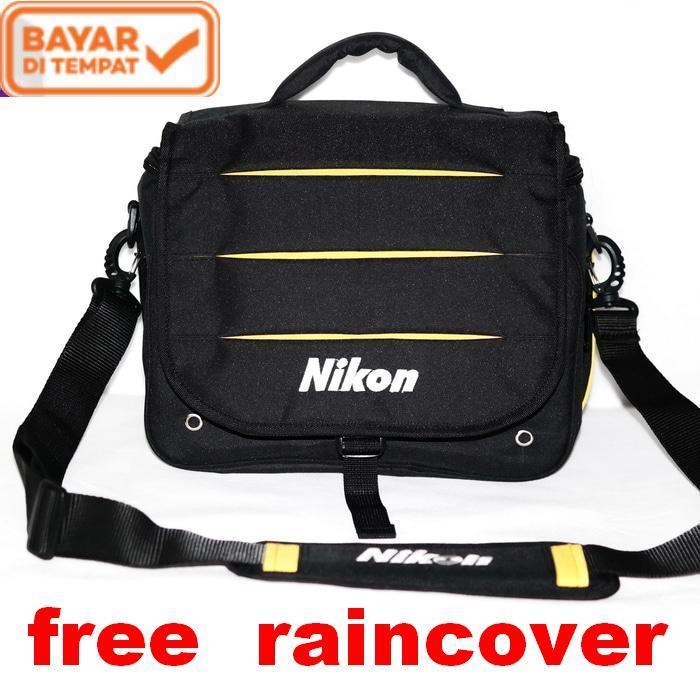Tas Kamera dslr mirrorless Selempang kode D Nikon gratis raincover