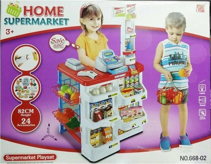 Promo Popularitas mainan supermarket/mainan jual-jualan/mainan kasir/mainan swalayanMainan edukasi / hadiah ulang tahun