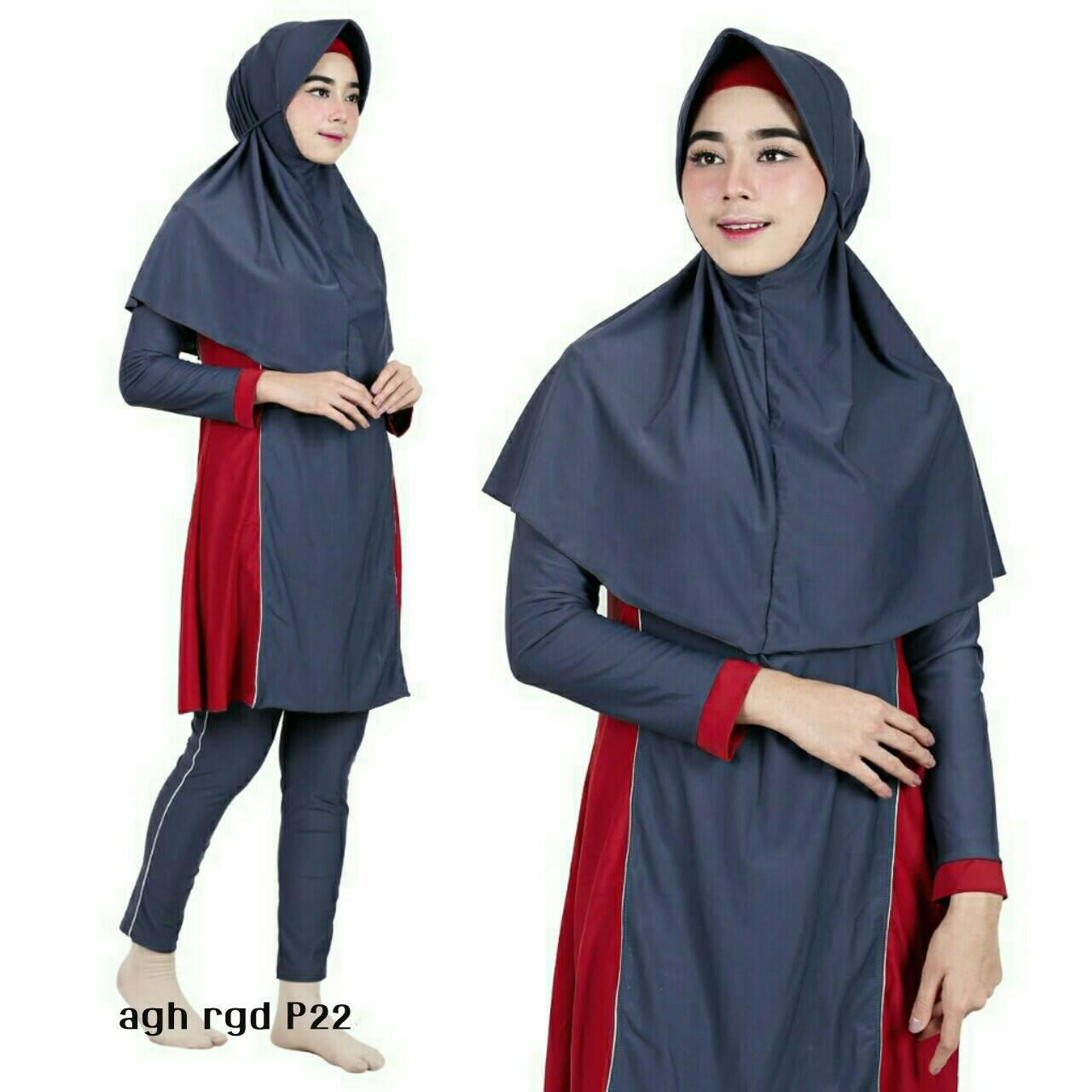 ... Baju Renang Muslimah Premium by Aghnisan Collection Size XXL - 3 ...