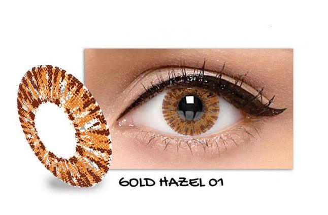 Exoticon Softlens by X2 ICE GOLD HAZEL 01 / NO 1 - Normal Plano