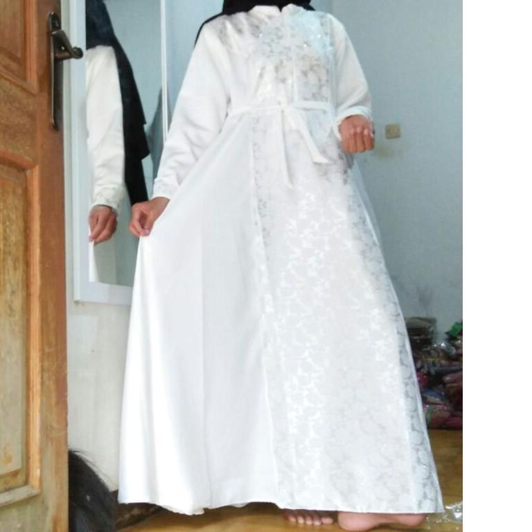 Gamis mewah jaguar  gamis baloteli dress pesta gamis modern burkat kebaya fashion muslimah update oren bata