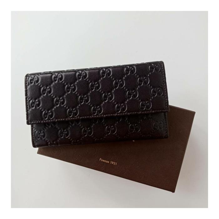 DOMPET GUCCI ORIGINAL - GUCCI WALLET GUCCISSIMA FLAP BLACK