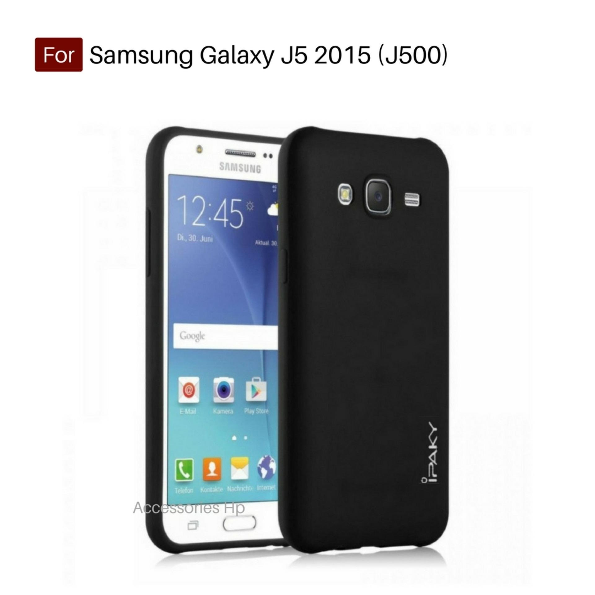 Accessories Hp iPaky Super Slim Matte Anti Fingerprint Hybrid Case For Samsung Galaxy J5 2015 (J500) - Black