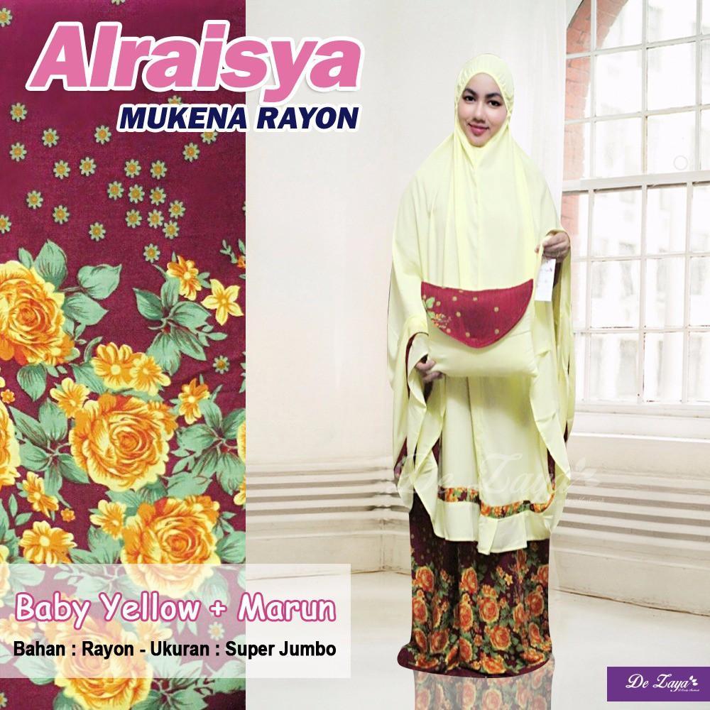 Mukena Bali Rayon Jumbo Premium Alraisya Season 1 - Mukena Bali - Mukena Rayon - Mukena Murah Soft Yellow